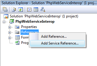 Add A Service Reference